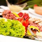 Alimento colorido na tabela. Imagem de Stock Royalty Free