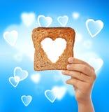 Alimento con amore - aiuti il concetto bisognoso immagine stock libera da diritti