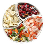 Alimento congelado Imagen de archivo libre de regalías