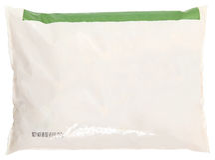 Alimento congelato contrassegno dello spazio in bianco del sacchetto di drogheria fotografia stock