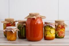 Alimento conservado Imagenes de archivo