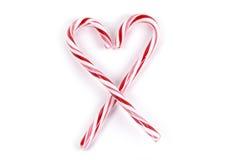 Alimento - coração do bastão de doces Imagens de Stock