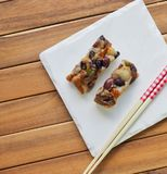Alimento coreano, bolo de arroz da nutrição Imagens de Stock Royalty Free