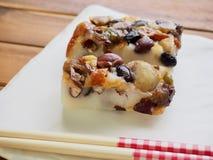 Alimento coreano, bolo de arroz da nutrição Fotografia de Stock