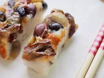 Alimento coreano, bolo de arroz da nutrição Imagem de Stock Royalty Free