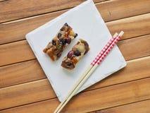 Alimento coreano, bolo de arroz da nutrição Fotografia de Stock Royalty Free