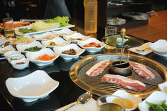 Alimento coreano de la barbacoa imagen de archivo