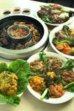 Alimento coreano del barbecue Fotografia Stock