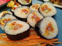 Alimento coreano Kimbap imagem de stock