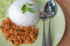 Alimento creativo del curry asciutto del pollo Immagini Stock Libere da Diritti