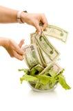 Alimento creativo del dinero Imagen de archivo libre de regalías