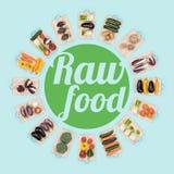 Alimento cru e comer saudável Imagem de Stock Royalty Free