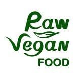 Alimento crudo del vegano illustrazione di stock