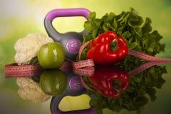 Alimento da aptidão, dieta, composição vegetal Foto de Stock Royalty Free