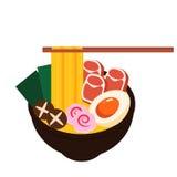 Alimento da bacia do macarronete de Ásia Imagens de Stock Royalty Free