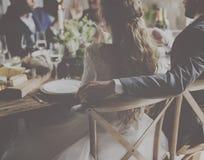 Alimento da celebração da recepção de Dinning do casamento fotos de stock royalty free