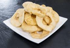 Alimento da dieta (maçãs secadas) Imagem de Stock Royalty Free