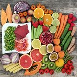 Alimento da dieta saudável foto de stock