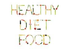 Alimento da dieta saudável Imagens de Stock Royalty Free