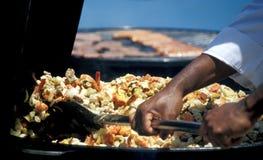 Alimento da fritada do Stir Imagem de Stock