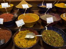 Alimento da loja da especiaria das especiarias da elevação Fotografia de Stock Royalty Free