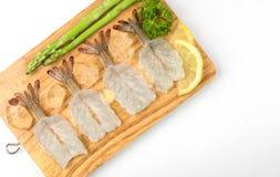 Alimento da matéria prima do camarão Imagens de Stock
