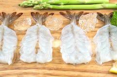 Alimento da matéria prima do camarão fotos de stock