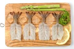 Alimento da matéria prima do camarão Fotografia de Stock Royalty Free