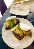 Alimento da rua de Formosa - bolo da barriga de carne de porco imagens de stock