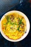 Alimento da rua de Formosa - omeleta fritada das ostras Fotografia de Stock