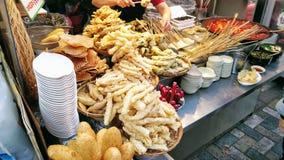 Alimento da rua em Busan, Sul-Coreia fotos de stock royalty free