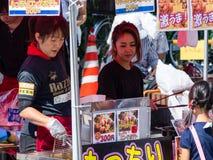 Alimento da rua em Japão Fotos de Stock Royalty Free