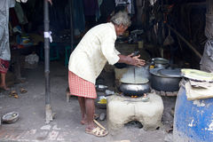 Alimento da rua, Kolkata, Índia Imagens de Stock