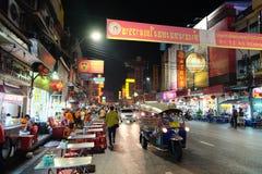 Alimento da rua no bairro chinês de Banguecoque Fotos de Stock