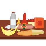 Alimento dal supermercato Illustrazione di Stock