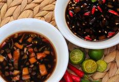 Alimento dalle Filippine, Sawsawan Fotografia Stock