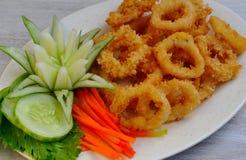 Alimento das Filipinas, Calamares (anéis do calamar) Imagens de Stock