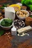 Alimento das proteínas do vegetariano foto de stock royalty free