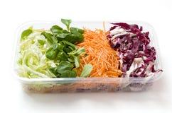 Alimento das saladas embalado Fotografia de Stock Royalty Free