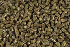 Alimento de animais seco da alfalfa imagem de stock
