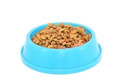 Alimento de animal doméstico (gato, perro, etc.); aislado sobre whte Imágenes de archivo libres de regalías