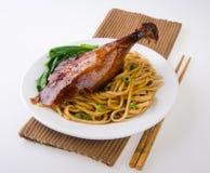 Alimento de Asia de los tallarines del pato imagen de archivo libre de regalías