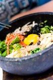 Alimento de Bibimbap Imagen de archivo