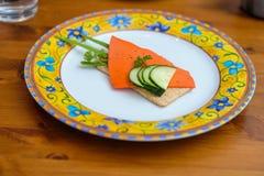 Alimento de Decorational com pão estaladiço fotografia de stock