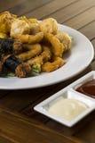 Alimento de dedo fritado Fotografia de Stock
