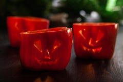 Alimento de Dia das Bruxas Pimentas de sino doce vermelhas foto de stock royalty free
