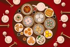 Alimento de Dimsum na tabela Imagens de Stock