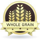 Alimento de grano o escritura de la etiqueta entero del producto Foto de archivo libre de regalías
