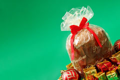 Alimento de Holliday - Panettone imagens de stock royalty free