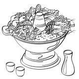Alimento de Hotpot ilustração royalty free